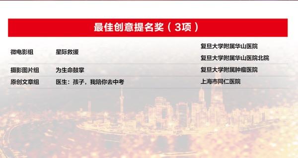 2017年上海市医院新媒体宣传节获奖作品揭晓